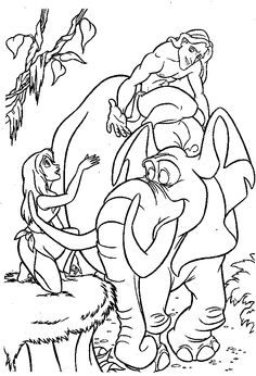 tarzan ride tantor the eelephant coloring pages for kids printable tarzan coloring pages for kids