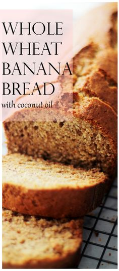 A delicious and super moist banana bread made healthier using whole wheat flour, sweet bananas, and coconut oil. No mixer needed!