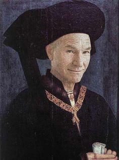 Rogier van der Weyden - Portrait of Philippe le Bon, 1450 Renaissance Portraits, Renaissance Paintings, Johannes Vermeer, Robert Campin, Philippe Le Bon, Patrick Stewart, Classic Paintings, Looks Cool, Oeuvre D'art