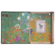 Flower Garden by Gustav Klimt iPad Folio Case