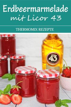 The most delicious jam in the world. Strawberry and vanilla jam with Licor A dream. - This jam is sooo delicious. The liqueur gives it a special taste. Healthy Eating Tips, Healthy Nutrition, Jam Recipes, Baby Food Recipes, A Food, Food And Drink, Schnapps, Vegetable Drinks, Strawberry Jam