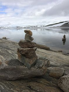 blog-of-a-photographr:    Rock towers made after the hike is finished  Geilo Norway   Kristine