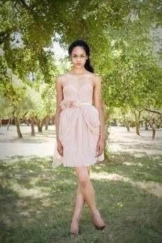 blush bridesmaid dress - it's beautiful, but I'd want a darker pink