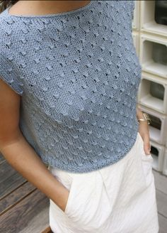 Knitting Kit Pima Cotton Lemon Tee