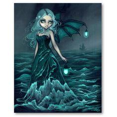 Fairy+Art+Prints | Sea Beacon Gothic Sea Fairy Art Print » Fairy Art