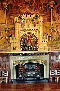 William Burges R.A. (1827-1881). Architect. Chimneypiece in the great hall at Cardiff Castle. He was an original member of The Artists Rifles.
