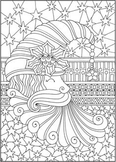 Entangled Christmas Coloring Pages Verwickelte Weihnachtsmalvorlagen