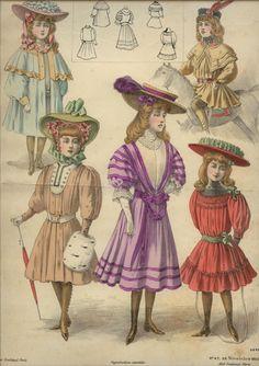 August 1905 dresses for girls
