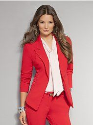 New York & Company - Online Exclusives - City Double Stretch Single Button Jacket - Average, $70, has petite available
