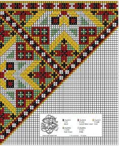 Peyote Patterns, Loom Patterns, Cross Stitch Patterns, Scandinavian Embroidery, Hardanger Embroidery, Chart Design, Peyote Stitch, Loom Beading, Rugs On Carpet