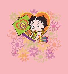 Betty Boop Digital Art - Boop - Peace Love And Boop by Brand A