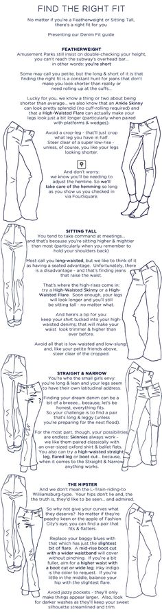 Jean Sequence: find the right fit with our easy denim fit guide!