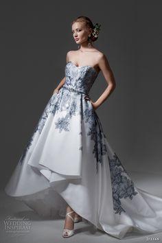 jillian 2017 bridal strapless sweetheart neckline heavily embellished bodice…
