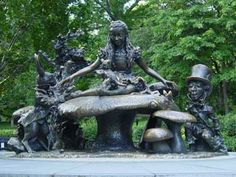 Alice in Wonderland statue in Central Park. There are so many hidden treasures to discover in the park, from the statues...to the marionette theater...to the carousel...to the zoo...to Belvedere Castle. Without a doubt, it is one of the most special parks in the world!!!