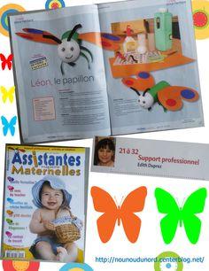 le papillon que j'ai réalisé pour le magazine assistantes maternelles N°102 du mois Juin 2013