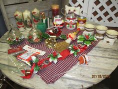 Huge Lot 20 Assortment Vintage Christmas Decorations Candle Holders Holiday Elegance Candles Ornaments Door Hangers by EvenTheKitchenSinkOH on Etsy