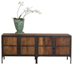Hyderabad Reclaimed Wood and Metal Buffet $1,220