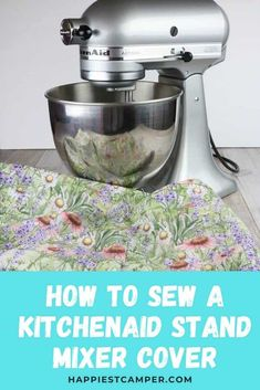 Small Sewing Projects, Sewing Projects For Beginners, Sewing Tutorials, Sewing Ideas, Sewing Crafts, Kitchenaid Cover, Kitchenaid Stand Mixer, Sewing Patterns Free, Free Sewing