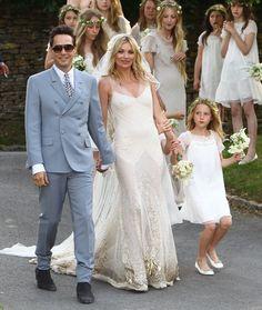 Vestidos de novia hippies: El estilo boho-chic de Kate Moss