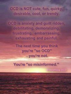 A very dear friend of mine suffers from OCD