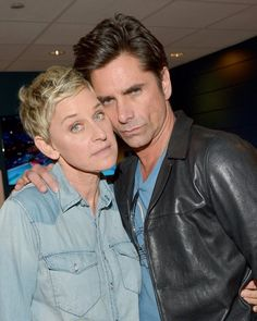 Pin for Later: The 21 Best Moments From the Kids' Choice Awards  Pictured: Ellen DeGeneres and John Stamos