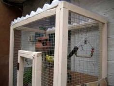 How to make your own bird cage or mini aviary - useful video with lots of potential for variation.  And a bunny helps with the instructions.