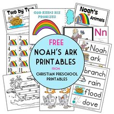 Free Noah's Ark Bible Printables, Bible Crafts and Resources | Free Homeschool Deals ©