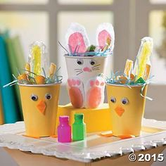 Bunny & Chick Treat Cups Idea