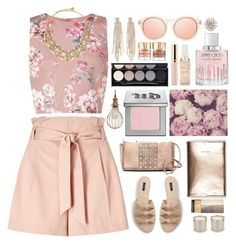 """""""Dottie"""" by sinesnsingularities ❤ liked on Polyvore featuring Miss Selfridge, Jimmy Choo, Charlotte Russe, Kate Spade, MANGO, Big Buddha, Witchery, Urban Decay, NuCasa and Smith & Cult"""