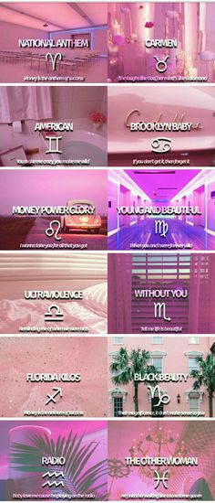 Lana Del Rey song lyrics + zodiac signs #LDR