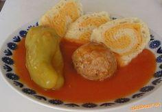 *♥*Plnená paprika v paradajkovej omáčke*♥* Sausage, Meat, Dinner, Breakfast, Recipes, Eastern Europe, Red Peppers, Dining, Morning Coffee