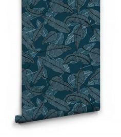 Teodor Blue Wallpaper Roll Emma Johannson