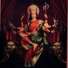 Lord Durga, Durga Maa, Durga Painting, Ambe Maa, Mata Rani, Ganesha Pictures, Shree Ganesh, Divine Mother, Goddess Lakshmi