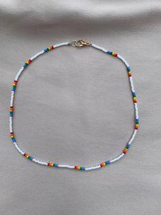 Summer Necklace, Summer Jewelry, Diy Necklace, Bracelet Designs, Necklace Designs, Beaded Choker, Beaded Bracelets, Bead Jewellery, Beaded Jewelry