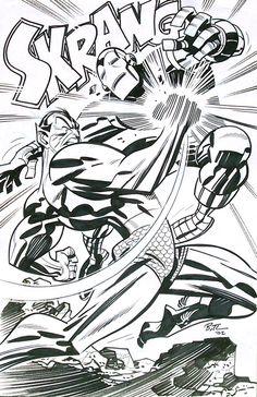 Namor vs Iron Man by Bruce Timm
