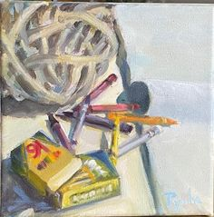 Little My, Fine Art Gallery, Sisal, Stretched Canvas, Crayons, Canvas Size, Cow, Have Fun, Mary