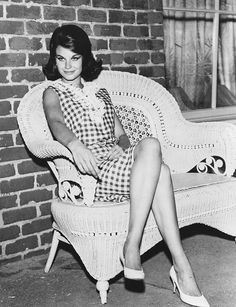 Portrait of actress Lana Wood, star of the television show 'Peyton Place', sitting on a wicker chair, October (Photo by Photoshot/Getty Images) Bikini Images, Bikini Pictures, Old Hollywood Stars, Classic Hollywood, Bond Girls, Natalie Wood, Picture On Wood, Old Movies, Vintage Beauty