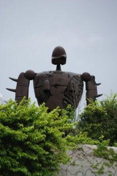 Robot from The Castle in the sky, on the Ghibli museum's roof