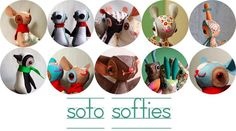 soto softies: warm fuzzy mammal finger puppets - the tutorial Sewing Toys, Sewing Crafts, Sewing Projects, Sewing Tutorials, Finger Puppet Patterns, Finger Puppets, Sewing For Kids, Diy For Kids, Felt Patterns