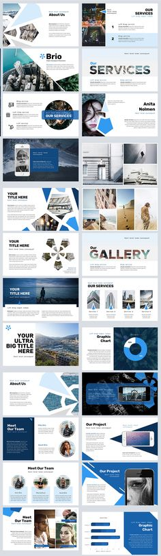 ♥♥♥♥♥♥ Also check out our New Publica template ♥♥♥♥♥♥ --- Brio is a multipurpose template that can be used for any type of presentation. Web Design, Slide Design, Layout Design, Powerpoint Design Templates, Creative Powerpoint, Powerpoint Free, Booklet Design, Brochure Design, Flyer Template