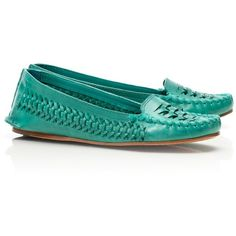 Tory Burch Nadia Moccasin ($250) ❤ liked on Polyvore