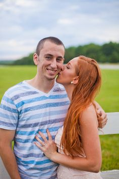 """(""""Country"""" Engagement Photoshoot) Fun Couple Pose! // Nate and Anna 