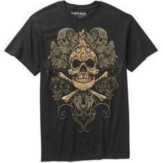 Los Muertos Men's Graphic Tee, Size: Large, Black