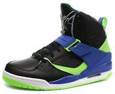 reputable site 69a19 a4098 Nike Air Jordan Flight 45 High Homme Basketball Chaussures, Noir-Vert,