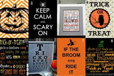 """Free Halloween printables - """"For Frames"""" are offered in different color variations, and many of the """"For Treats"""" have coordinating printables as well.  Check 'em out!"""