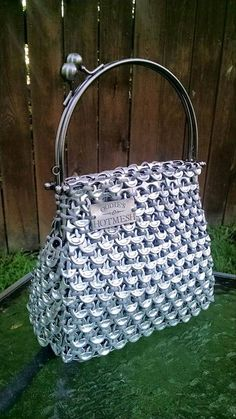 Vintage inspired purse Soda Pull Tabs Beer Tabs by OodiesHotMesh