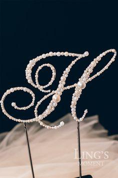 Vintage Pearl Personalized Monogram Cake Topper by LingsWedding Wedding Cake Toppers, Wedding Cakes, Our Wedding, Dream Wedding, Future Mrs, Monogram Cake Toppers, 30th Wedding Anniversary, Wedding Cake Decorations, Vintage Pearls