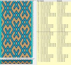 46 tarjetas hexagonales, 4 colores, repite cada 24 movimientos // sed_407_c6 diseñado en GTT༺❁