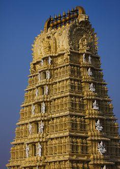 Gopuram Of The Ancient Dravidinian Style Lakshmi Ramana Swami Temple, Mysore, India by Eric Lafforgue, via Flickr