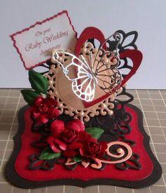ruby wedding easel card by janeelizabeth - Cards and Paper Crafts at Splitcoaststampers